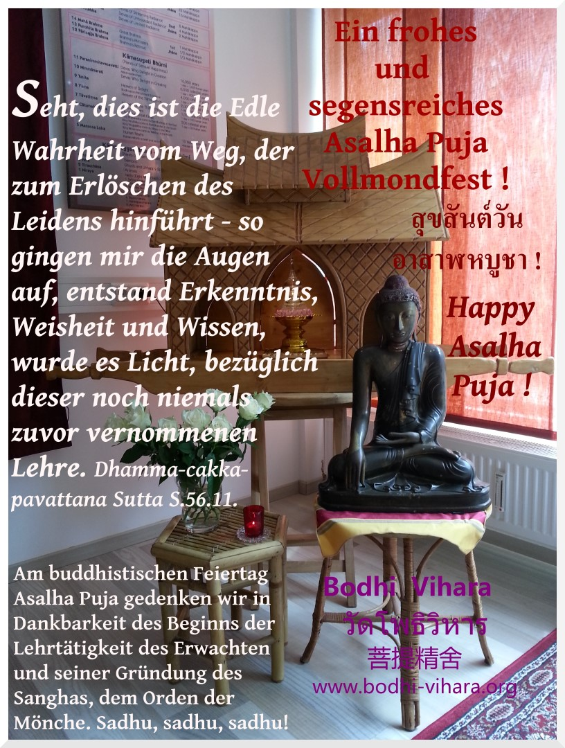 Happy Asalha Puja 2557 - 2014